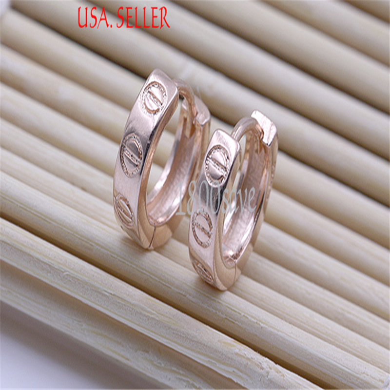 18K-White-Rose-Gold-Filled-Diameter-10MM-Round-Hoop-Earrings-Y1246